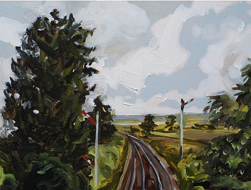 Rail tracks at Greenloaning by Claudia Massie