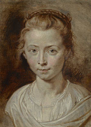 'Portrait of the Artist's Daughter, Clara Serena' by Sir Peter Paul Rubens