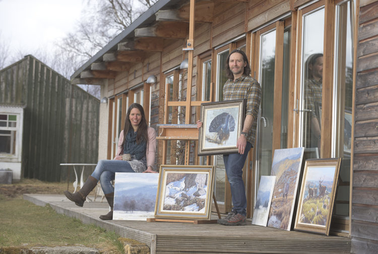 Justin and Carina at their home in Dulnain Bridge.